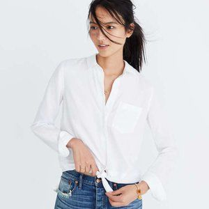 Madewell White Tie-Front Shirt NWT